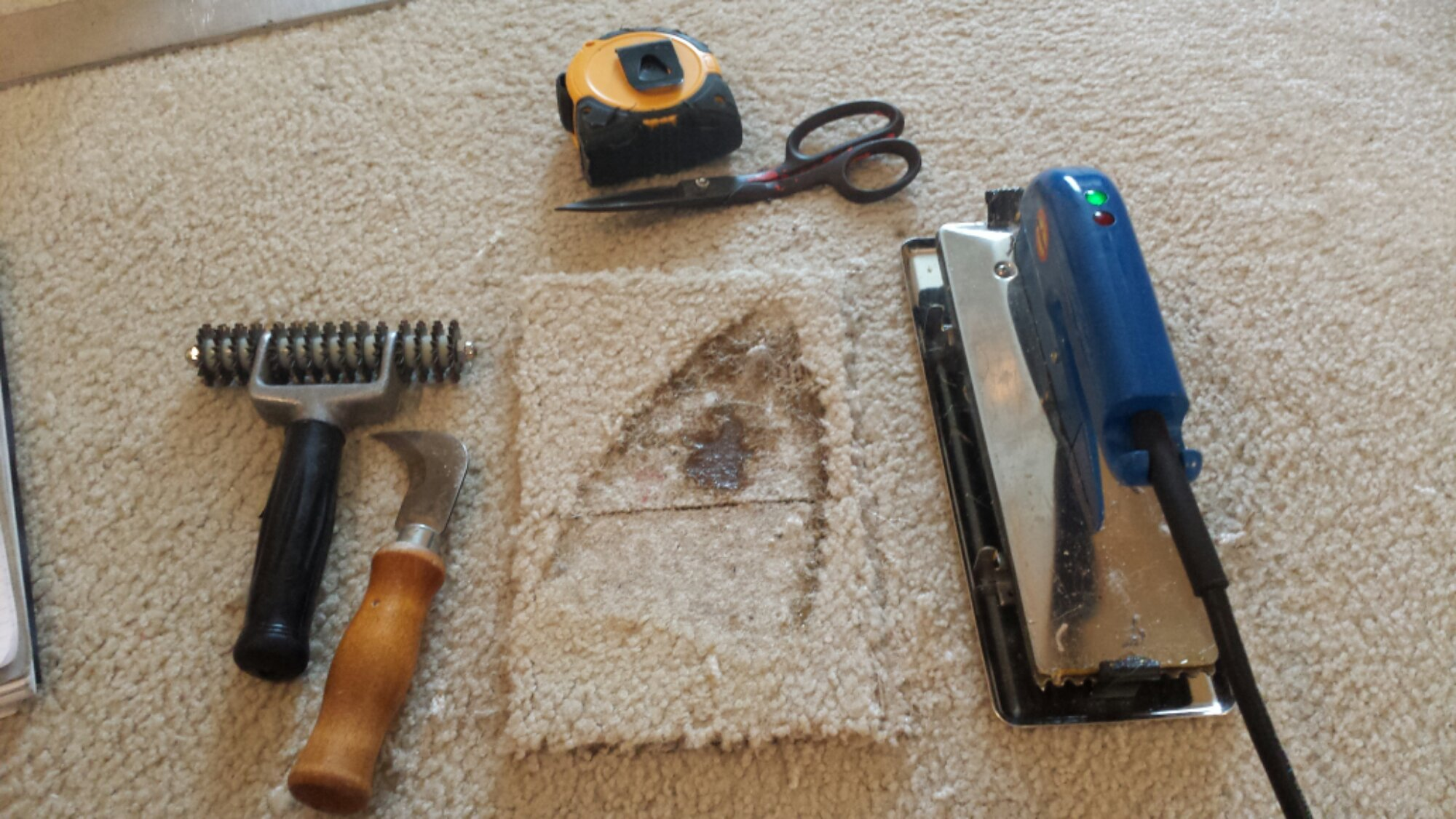 Burn Repair for Carpets