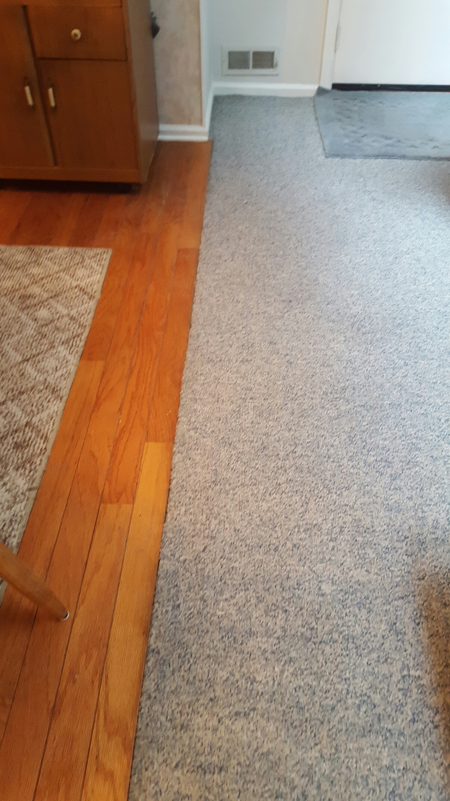 Repaired Amp Restretched Berber Carpeting On Concrete Floor